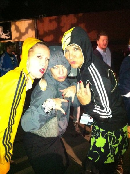 The Jungle Monster, Jungle Hut Mama and the Time Traveller being 1000% junglist at RAW, 2011. Thanks for the pic, Ida!
