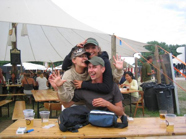 A mignificent masterpiece of a group hug at Roskilde 2005. What a year that was! And what a Sunday.