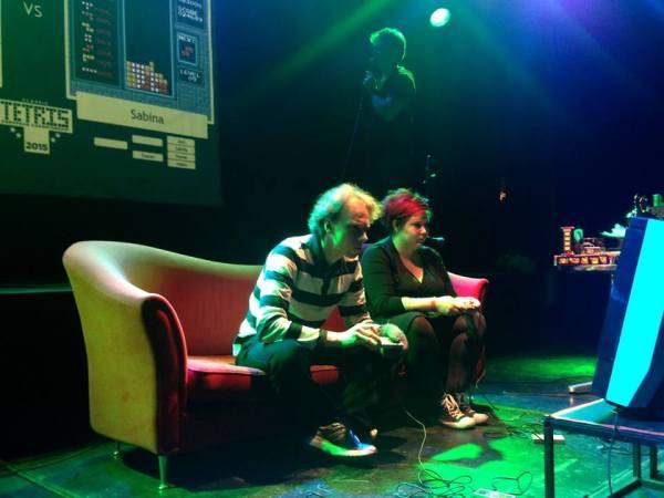 Jani and Sabina, battling on stage.